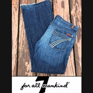 7 For All Mankind Dojo Flip Flop Wide Flare Jeans